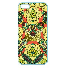 Petals, Retro Yellow, Bold Flower Design Apple Seamless Iphone 5 Case (color) by Zandiepants