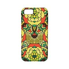 Petals, Retro Yellow, Bold Flower Design Apple Iphone 5 Classic Hardshell Case (pc+silicone) by Zandiepants