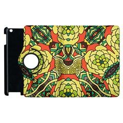 Petals, Retro Yellow, Bold Flower Design Apple Ipad 2 Flip 360 Case by Zandiepants