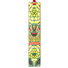 Petals, Retro Yellow, Bold Flower Design Large Book Mark by Zandiepants