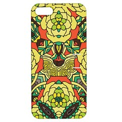 Petals, Retro Yellow, Bold Flower Design Apple Iphone 5 Hardshell Case With Stand by Zandiepants