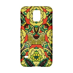 Petals, Retro Yellow, Bold Flower Design Samsung Galaxy S5 Hardshell Case  by Zandiepants
