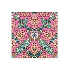 Petals, Carnival, Bold Flower Design Satin Bandana Scarf by Zandiepants