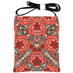 Petals In Pale Rose, Bold Flower Design Shoulder Sling Bag by Zandiepants