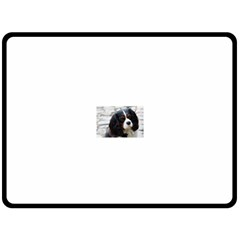 Cavalier King Charles Spaniel 2 Fleece Blanket (Large)  by TailWags