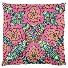Petals, Carnival, Bold Flower Design Standard Flano Cushion Case (one Side) by Zandiepants