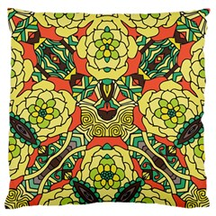 Petals, Retro Yellow, Bold Flower Design Standard Flano Cushion Case (one Side) by Zandiepants