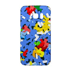 Rectangles Mix                          samsung Galaxy S6 Edge Hardshell Case by LalyLauraFLM