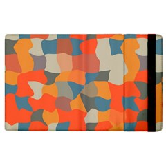 Retro Colors Distorted Shapes                           			apple Ipad 2 Flip Case by LalyLauraFLM