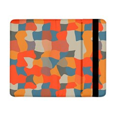 Retro Colors Distorted Shapes                           			samsung Galaxy Tab Pro 8 4  Flip Case by LalyLauraFLM