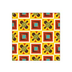 Retro Colors Squares Pattern                            Satin Bandana Scarf by LalyLauraFLM