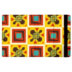 Retro Colors Squares Pattern                            			apple Ipad 2 Flip Case by LalyLauraFLM