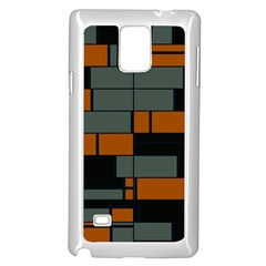 Rectangles In Retro Colors                              			samsung Galaxy Note 4 Case (white) by LalyLauraFLM