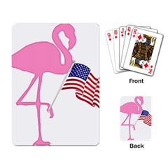 Flamingo American Flag Patriotic Playing Card by CrypticFragmentsColors