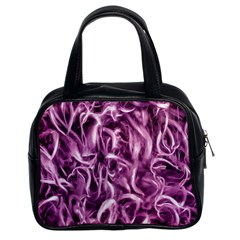 Textured Abstract Print Classic Handbags (2 Sides) by dflcprints