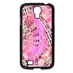 Pretty Pink Circles Curves Pattern Samsung Galaxy S4 I9500/ I9505 Case (black) by CrypticFragmentsDesign