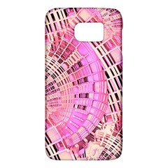 Pretty Pink Circles Curves Pattern Samsung Galaxy S6 Hardshell Case  by CrypticFragmentsDesign
