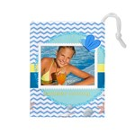 summer time - Drawstring Pouch (Large)