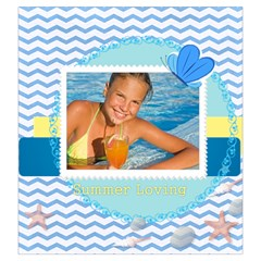 Summer Time By Summer Time    Drawstring Pouch (large)   Woaok3hryaqw   Www Artscow Com Back