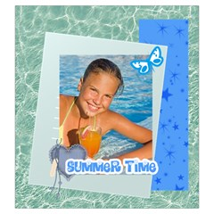 Summer Time By Summer Time    Drawstring Pouch (large)   Wm1s8qep42yh   Www Artscow Com Front