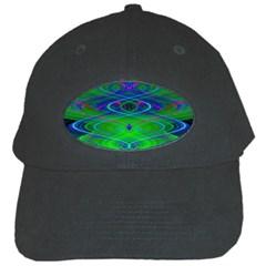 Neon Night Dance Party Black Cap by CrypticFragmentsDesign