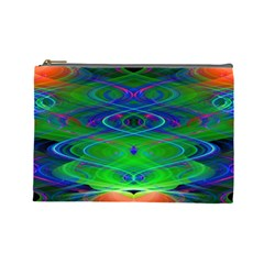 Neon Night Dance Party Cosmetic Bag (large)  by CrypticFragmentsDesign