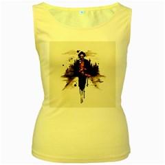 Leatherface 1974 Women s Yellow Tank Top