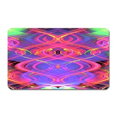 Neon Night Dance Party Pink Purple Magnet (rectangular) by CrypticFragmentsDesign