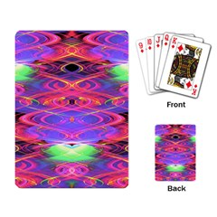 Neon Night Dance Party Pink Purple Playing Card by CrypticFragmentsDesign