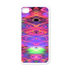 Neon Night Dance Party Pink Purple Apple Iphone 4 Case (white) by CrypticFragmentsDesign
