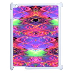Neon Night Dance Party Pink Purple Apple Ipad 2 Case (white) by CrypticFragmentsDesign