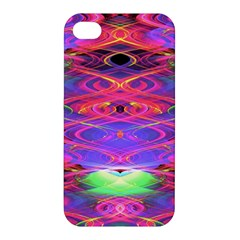 Neon Night Dance Party Pink Purple Apple Iphone 4/4s Hardshell Case by CrypticFragmentsDesign