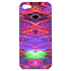 Neon Night Dance Party Pink Purple Apple Iphone 5 Hardshell Case by CrypticFragmentsDesign