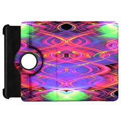 Neon Night Dance Party Pink Purple Kindle Fire Hd Flip 360 Case by CrypticFragmentsDesign