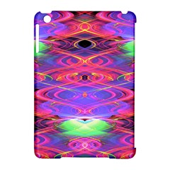 Neon Night Dance Party Pink Purple Apple Ipad Mini Hardshell Case (compatible With Smart Cover) by CrypticFragmentsDesign