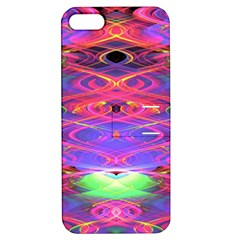 Neon Night Dance Party Pink Purple Apple Iphone 5 Hardshell Case With Stand by CrypticFragmentsDesign