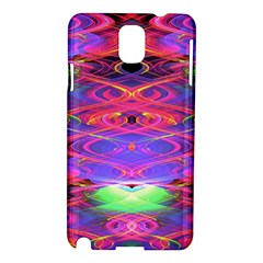 Neon Night Dance Party Pink Purple Samsung Galaxy Note 3 N9005 Hardshell Case by CrypticFragmentsDesign