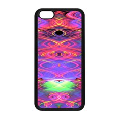 Neon Night Dance Party Pink Purple Apple Iphone 5c Seamless Case (black) by CrypticFragmentsDesign