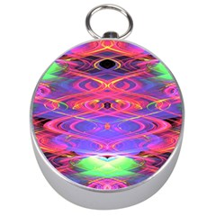 Neon Night Dance Party Pink Purple Silver Compasses by CrypticFragmentsDesign