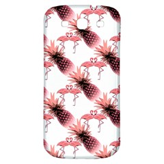 Flamingo Pineapple Tropical Pink Pattern Samsung Galaxy S3 S Iii Classic Hardshell Back Case by CrypticFragmentsColors