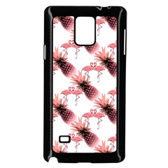 Flamingo Pineapple Tropical Pink Pattern Samsung Galaxy Note 4 Case (black) by CrypticFragmentsColors