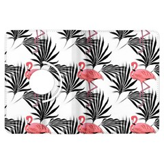 Flamingos Palmetto Fronds Tropical Pattern Kindle Fire Hdx Flip 360 Case by CrypticFragmentsColors