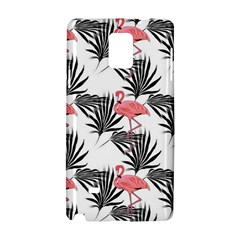 Flamingos Palmetto Fronds Tropical Pattern Samsung Galaxy Note 4 Hardshell Case by CrypticFragmentsColors