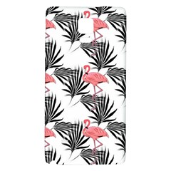 Flamingos Palmetto Fronds Tropical Pattern Galaxy Note 4 Back Case by CrypticFragmentsColors