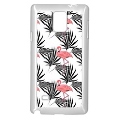 Flamingos Palmetto Fronds Tropical Pattern Samsung Galaxy Note 4 Case (white) by CrypticFragmentsColors