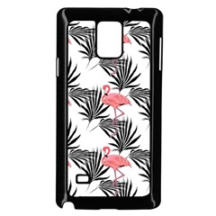 Flamingos Palmetto Fronds Tropical Pattern Samsung Galaxy Note 4 Case (black) by CrypticFragmentsColors
