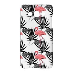 Flamingos Palmetto Fronds Tropical Pattern Samsung Galaxy A5 Hardshell Case  by CrypticFragmentsColors