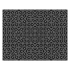 Black And White Ethnic Sharp Geometric  Rectangular Jigsaw Puzzl by dflcprints