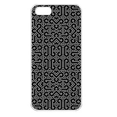 Black And White Ethnic Sharp Geometric  Apple Iphone 5 Seamless Case (white) by dflcprints