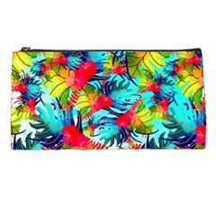 Watercolor Tropical Leaves Pattern Pencil Cases by TastefulDesigns